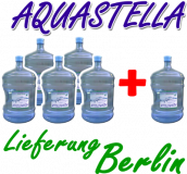 AQUASTELLA - frisches Quellwasser 18,9 Liter 5+1 Aktion (Liefergebiet Berlin)